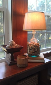 bottle lamp with corks